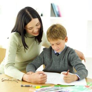 Parent and Child doing Homework